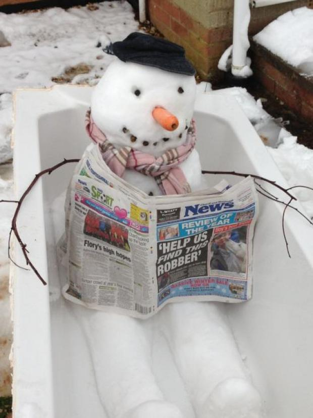 Snowbert keeps up with the News!