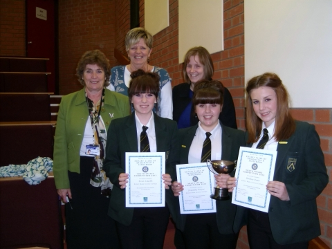 Back: Ann Winter (head teacher), Mrs Allen, Dawn Rose. Front: Erin Smith, Jessamy Boyer and Hollie Rees. Photo: submitted.