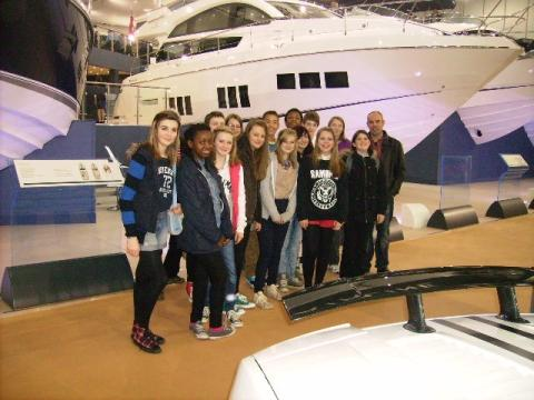 Students on from Robert Blake Science College on their trip to the boat show at London's ExCel Arena. Photo: submitted.