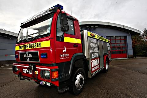 Fire crews tackle blaze at mid terraced property in Chard