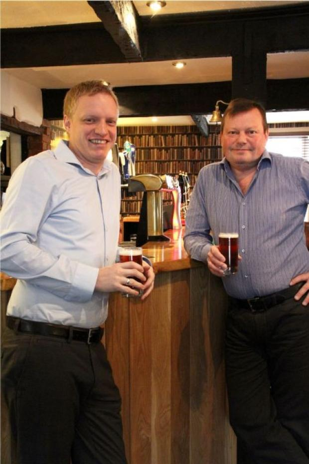 Chris Charles (left) and Paul Parnell of award-winning pub the Jack in the Green, who have taken over the Five Bells Inn in Clyst Hydon, near Cullompton