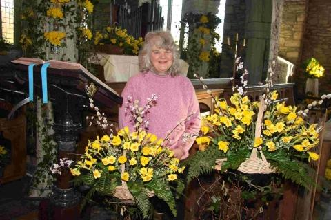 Golden glow for church daffodil festival: PICTURES