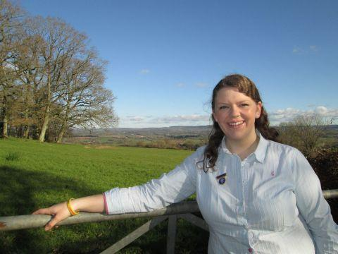 Caroline Trude, 23, from Clyst Hydon, who will represent England at the World Youth Agricultural Summit to be held in Canada this summer