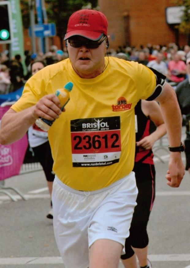 Stephen Lee taking part in last year's Bristol Half Marathon.