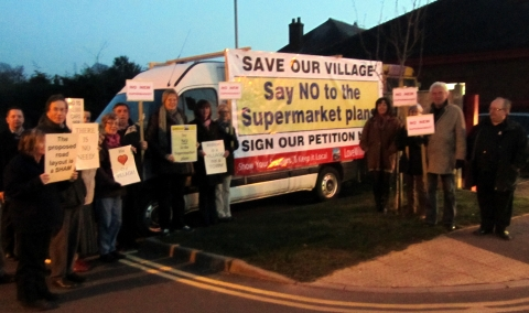 Protesters in Williton last year.