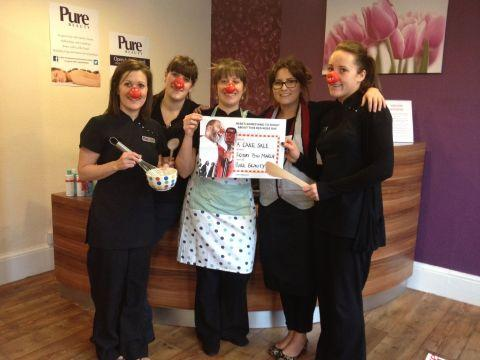 COMIC RELIEF: Yummy cakes at Pure Beauty