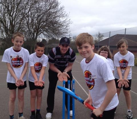 England cricketer visits Wembdon school