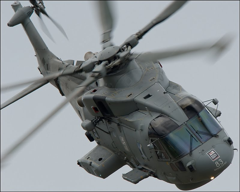 A Merlin helicopter.