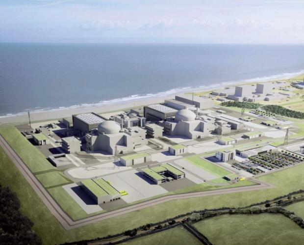 An artist's impression of the Hinkley C site.