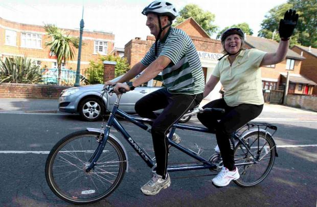 Lord Mayor set to arrive in style on a tandem