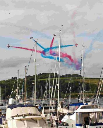 Fingers crossed for fantastic weather during Falmouth Week as town readies for Red Arrows