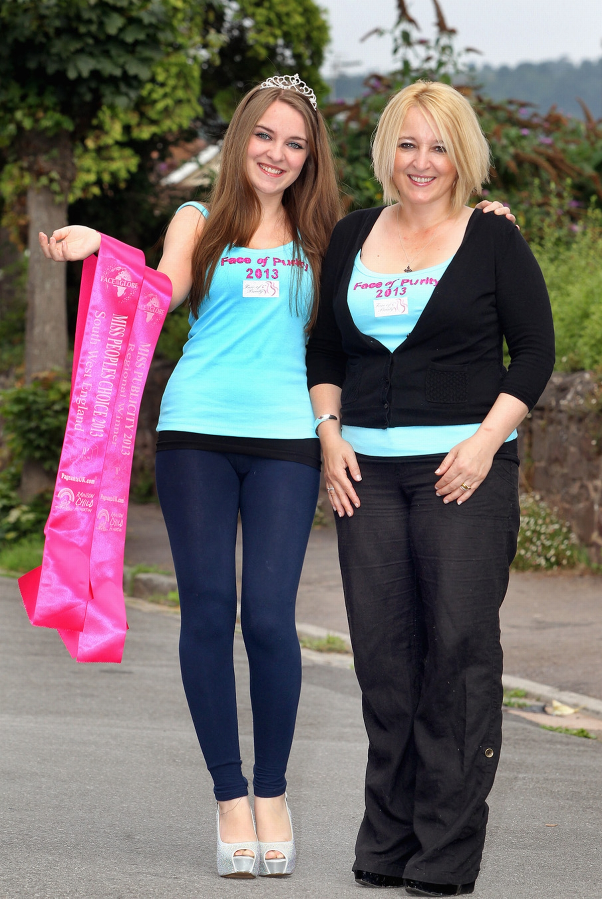 MORGAN Mancini, pictured with mum Charlie, is looking for talent acts to take part in this year's Face of Purity Pageant. PHOTO: Steve Guscott