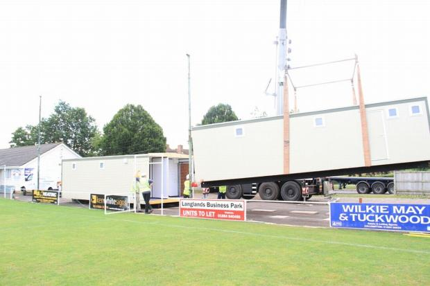 THE new changing unit came all the way from Ireland and had to be lifted by a 50-tonne crane.