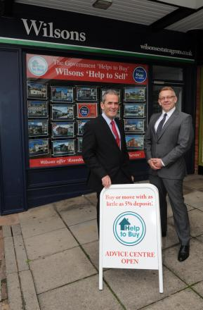 Estate agent Chris Willey and John Hutchins, of Heritage Independent Financial Consultancy.