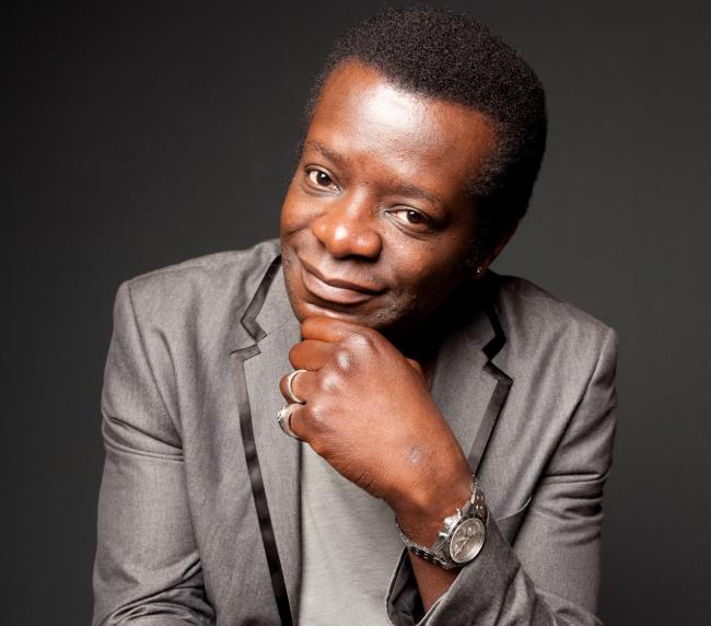 Stephen K Amos performs in Exeter