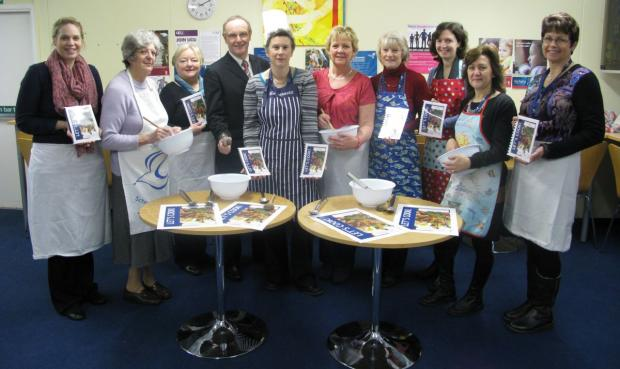 This is The West Country: DEBBIE Guppy, Karen Clotworthy and staff who have donated recipes, Laura Milligan, Val Holdsworth, Tiggy Glover, principal James Hampton, Debbie Guppy, Karen Clotworthy, Angela Coward, Sarah Dunstan, Sarah Massey and Jane Allen.