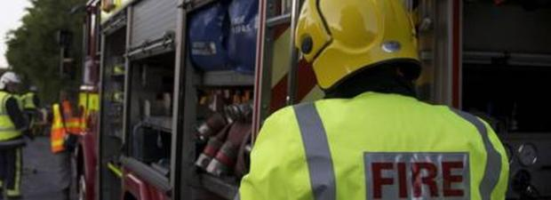 Camborne firefighters called to overturned car