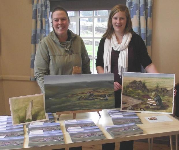 This is The West Country: VOLUNTEER and artist Clare Maryan Green with Faye Balmond, Moorland Heritage Officer.