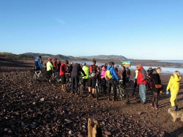 SUPPORTERS for a bike trail turned up to Blue Anchor on Sunday (December 29).