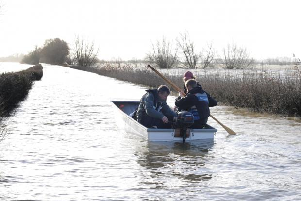 The only way in and out of Muchelney is by boat.