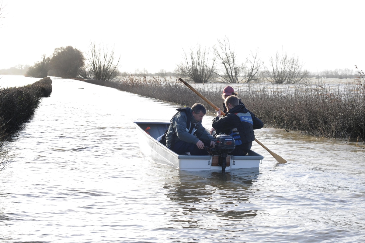 Residents in Muchelney need a boat to get to their home from 'the mainland'