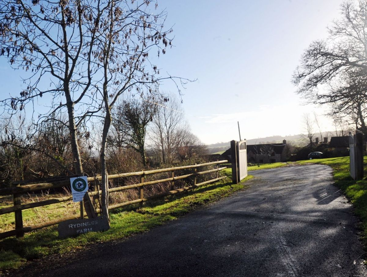 THE entrance to Rydiness Farm.