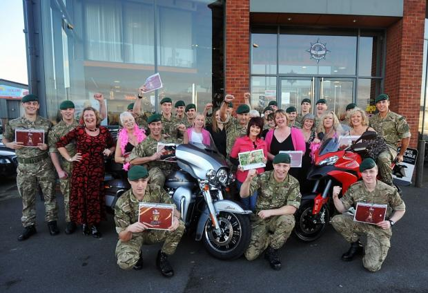 The Help for Heroes charity calendar launch at Riders.