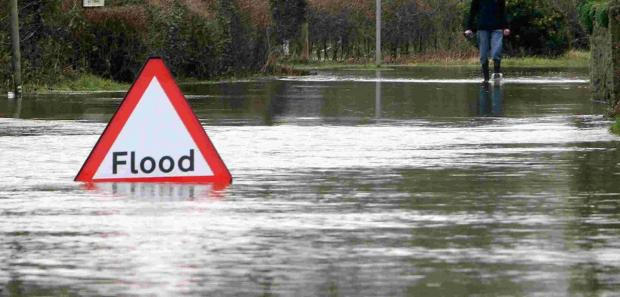 Drivers warned as flooding reported on A39 at Norway Inn