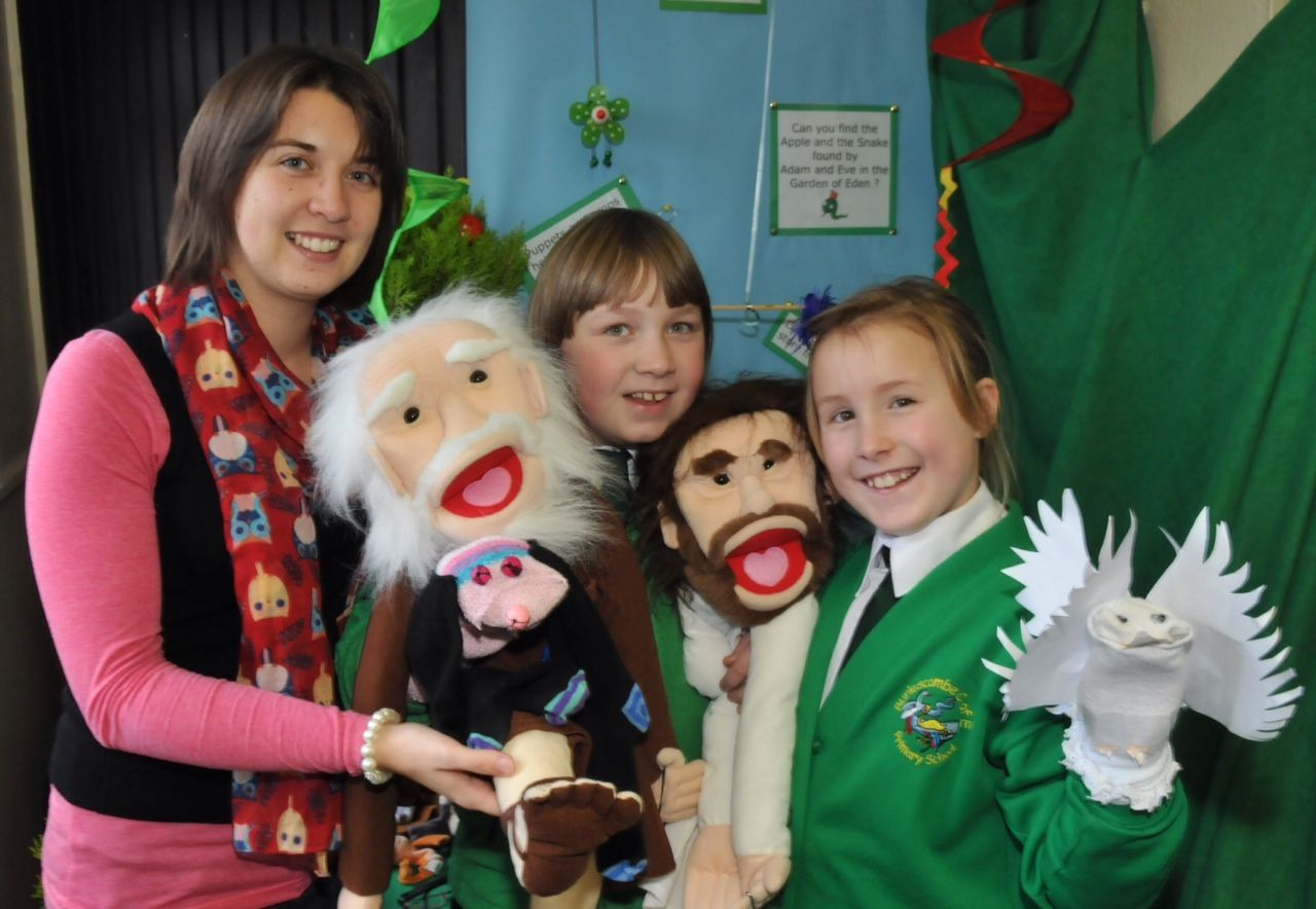 Puppet day at Burlescombe Primary School
