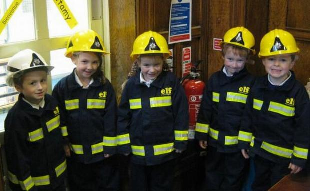 Move over Fireman Sam; Cezary Tomczak, Casey White, Autumn Spencer, Jacob Adams and Luke Reeder. PHOTO: Submitted.