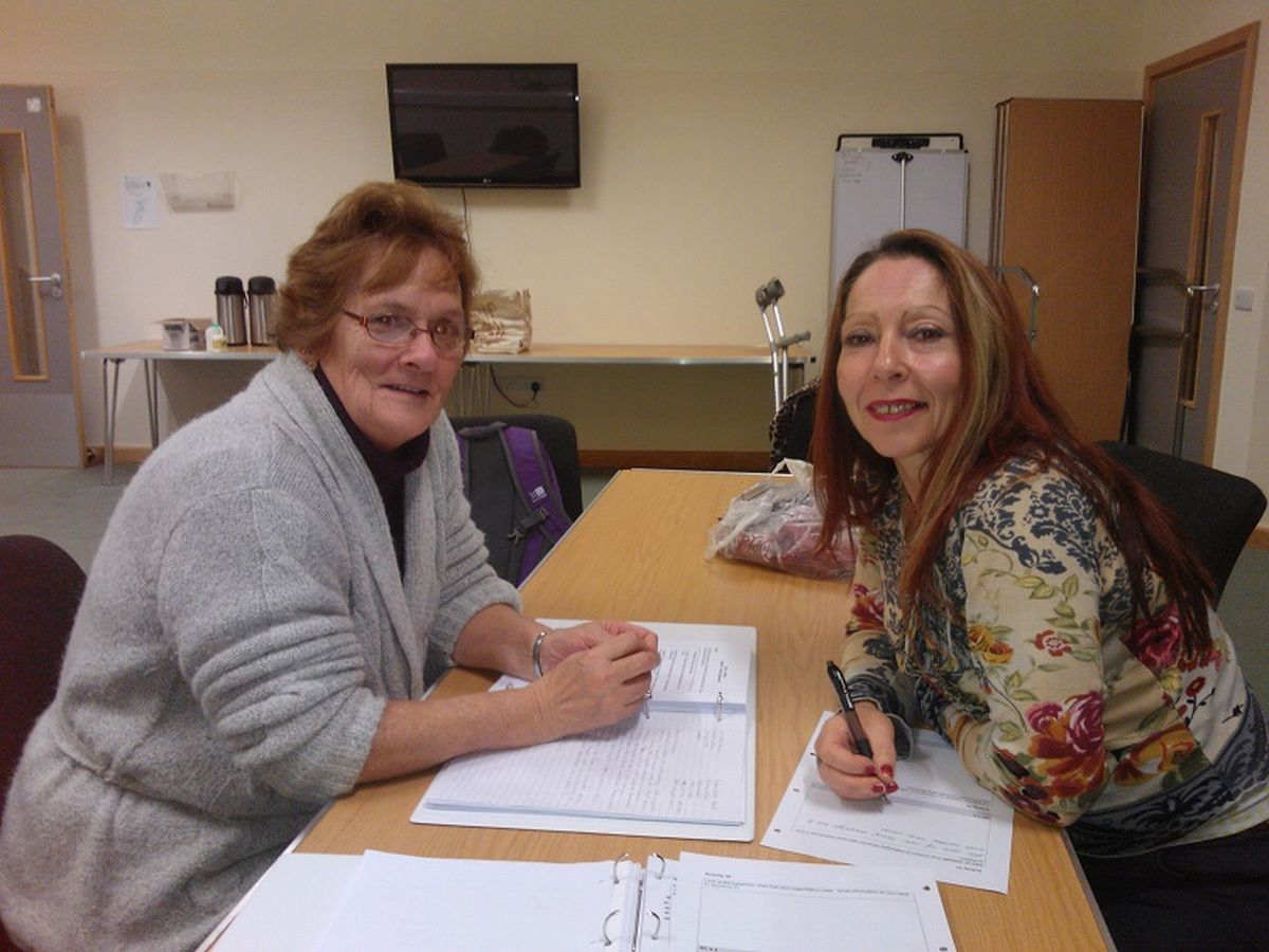 Mary Cox (left) with her fellow learner Karen Butler