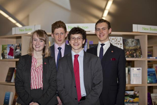 FROM left are: Emily Albery, Jack Holmes, Thomas Prayer and Lorenz Holzner.