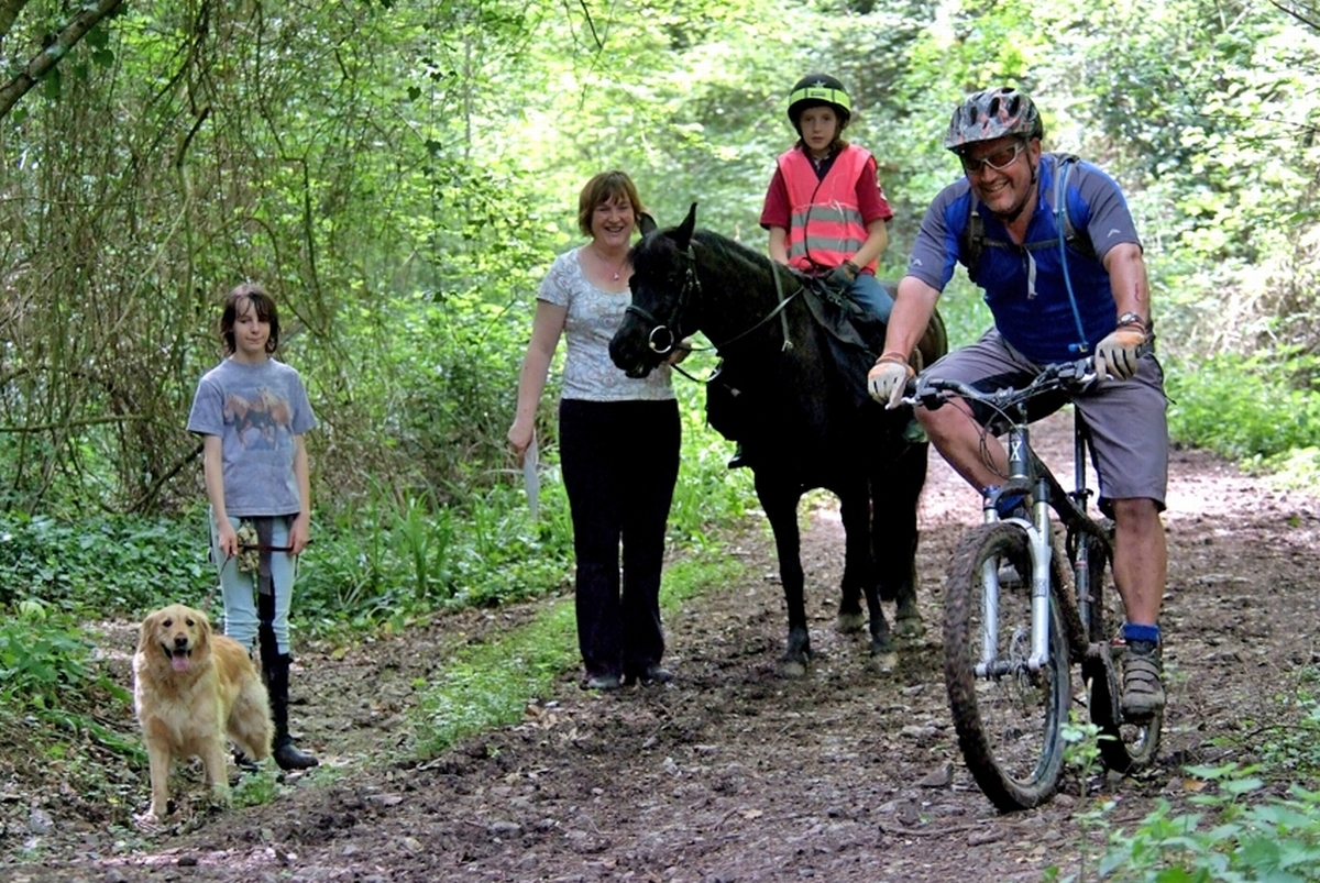 VISITORS enjoying the Herepath on the Blackdown Hills.