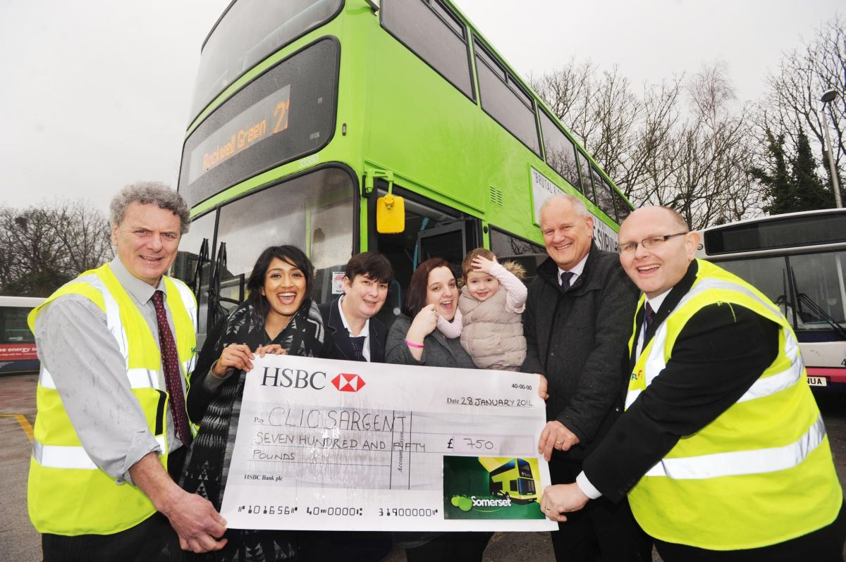 First Bus support Taunton family and CLIC Sargent with £750 boost