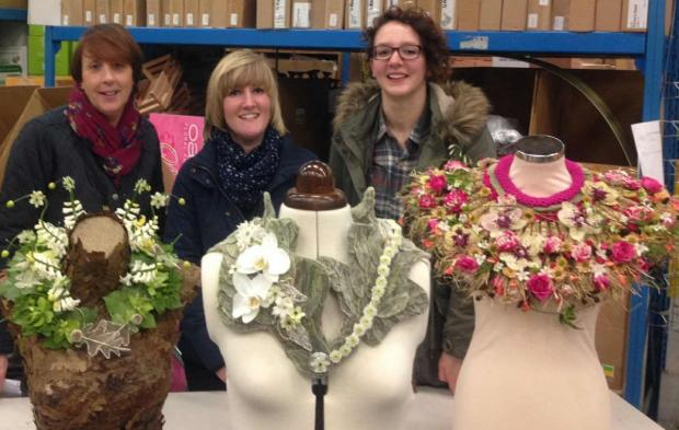 ANGIE Blackwell, Holly Jane Harris and Jacalyn Dobson of Cottage Flowers in Ilminster.