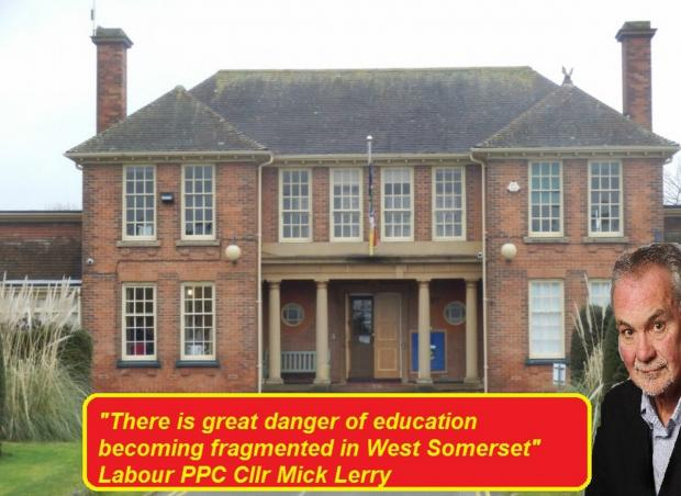 THE West Somerset Labour Party is calling on schools to work together. PHOTO: Submitted.