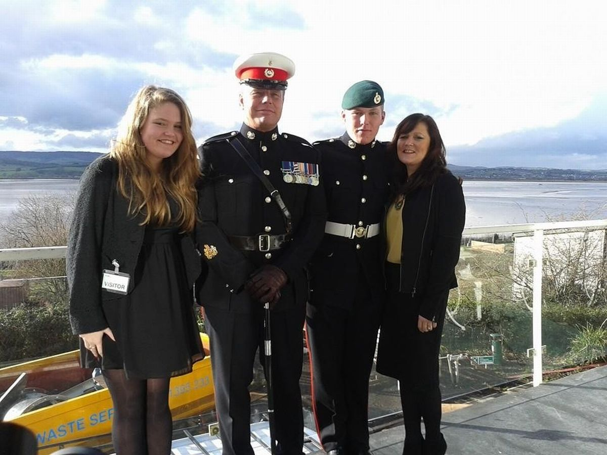 WILL is joined by his sister Maisie, father Paul and mum Sarah at his passing out parade.