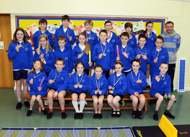 This is The West Country: Children at St Joseph's Primary School, Burnham, with their winners' medals.