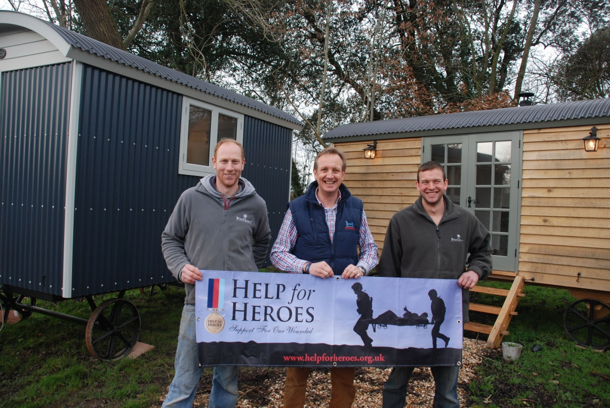 William Vickey, co-founder, Richard Lupton, of Help for Heroes, and co-founder George Bannister.