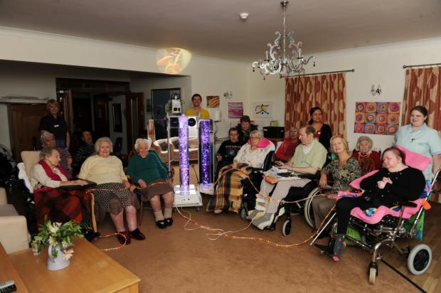 All smiles as manor care home gets Rhino Sensory Voyager