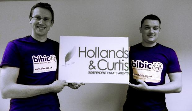 Duncan Hollands and Richard Curtis will take part in the Three Peak Challenge this May.
