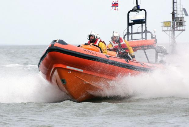 THE Minehead RNLI crew assisted 14 people last year. PHOTO: Chris Rundle.