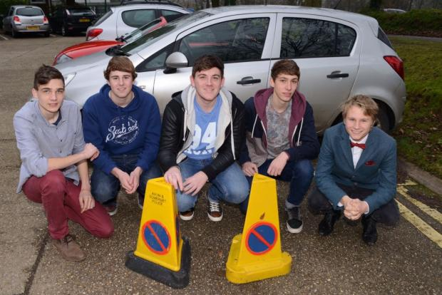 HOLYROOD Academy sixth-formers Jon Simmons, Stephen Barnes, Ryan Churchill, Josh Keating and Tom Davison.