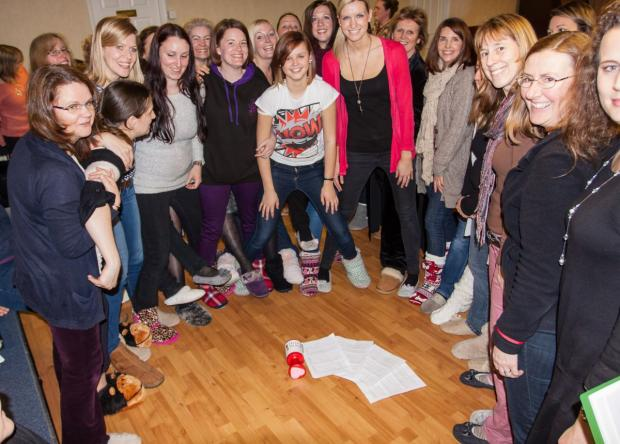 MEMBERS of Yeovilton Military Wives Choir in their slippers.