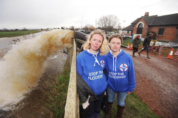 Bryony Sadler and Stephanie Webster, from the Flooding on the Levels Action Group.