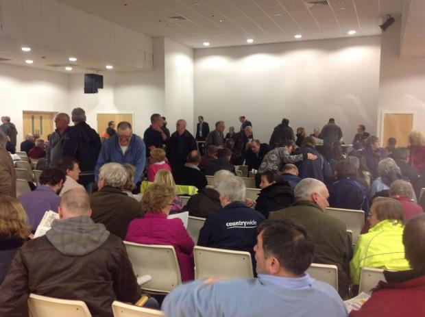 Over 300 people gather at the public meeting in Huntworth