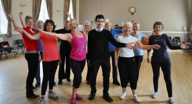 THE Zumba Gold group with instructor Charlotte Bly and Sam Wenden-de-Lira, of the district council, in the centre.