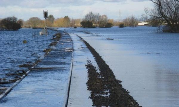 The rail line between Bridgwater to Taunton remains closed