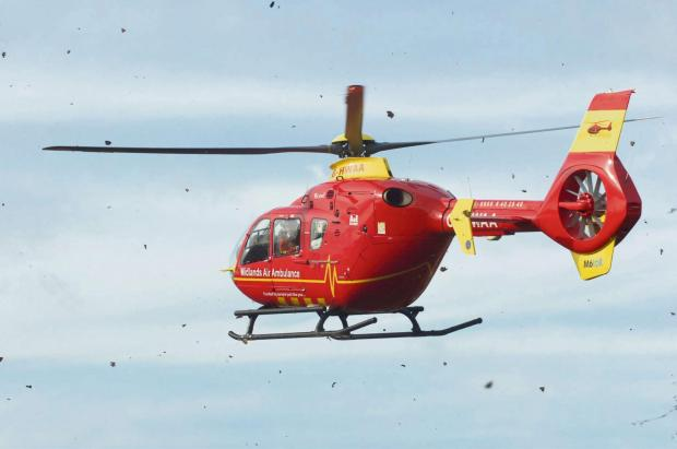 A man was air lifted to hospital after being attacked by a bull