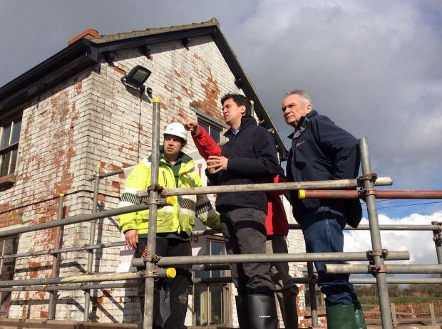 This is The West Country: Labour leader Ed Miliband on his visit to Somerset. Photo: Ed Miliband Twitter.